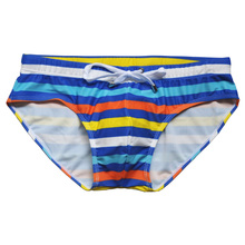 Men Striped swimwear with rope Brand man swimming trunks Beach Short Surfing Lashing sexy man triangular Hot sell summer