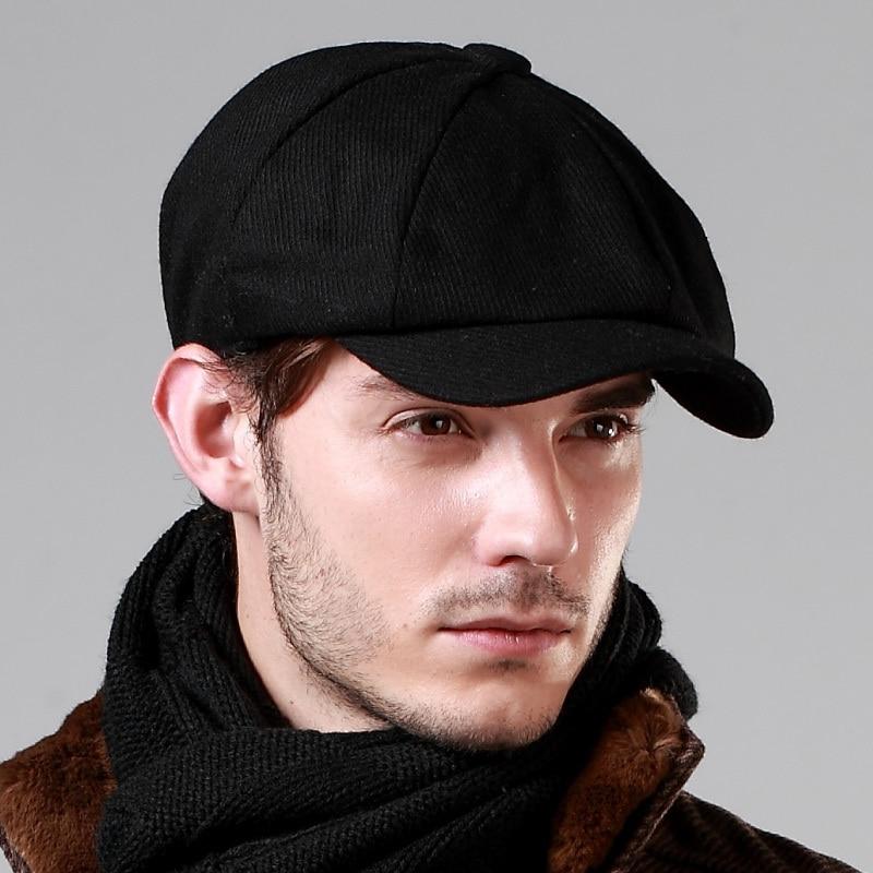 Fall Men Benn beret Korean tide male short brimmed hat fashion casual  octagonal cap art gas reported bonnet 631e127ce7e