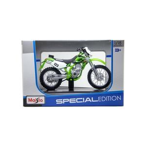 Image 5 - Maisto 1:18 Motorcycle Models Kawasaki KLX250SR KLX Diecast Plastic Moto Miniature Race Toy For Gift Collection