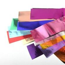 цена на 14 colors/set Nail Foil Pure colors Metal Effect Nail Art Transfer Foil Sticker Colorful Starry Paper Manicure Decoration