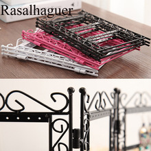 Hot Necklace and Earring Jewelry Stand 72 holes Display Rack 3 Doors Style Metal Holder Shelf Organizer