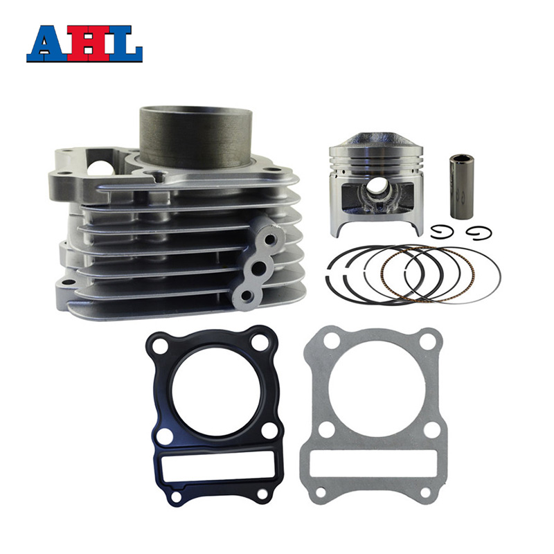 Motorcycle Engine Parts Bore Size 57mm Cylinder For SUZUKI GS125 GS 125 Air Cylinder Block & Piston & Cylinder Head Gasket цена и фото