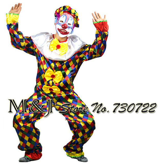 Hot Halloween adult clown costume for cosplay costume party adult bar decoration Christmas party clown dress suit