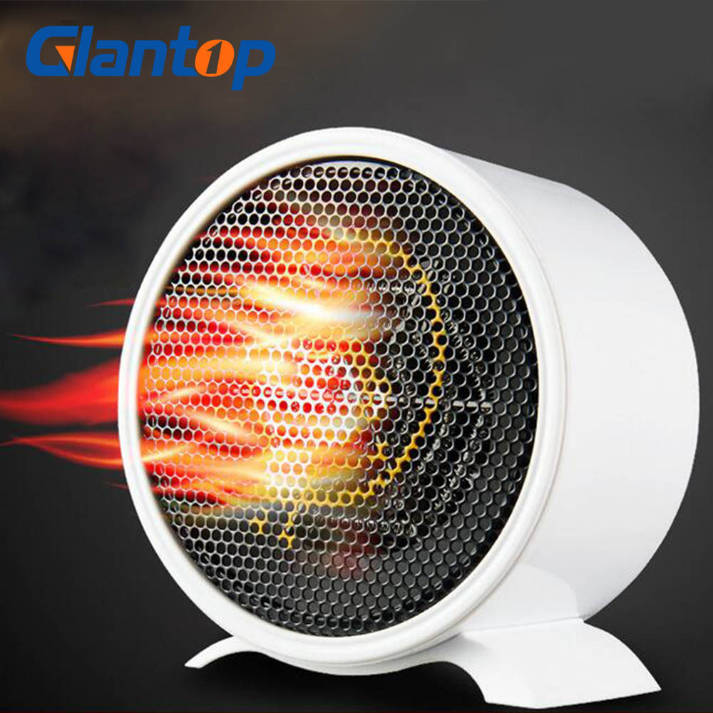 Glantop Portable Mini Personal  Space Heater Electric Fan Student Home Office Electric For Warm Winter 220V 600W
