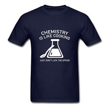 Men's Crew Neck Premium Short-Sleeve Chemistry Is Like Cooking Funny Quote Top Tees