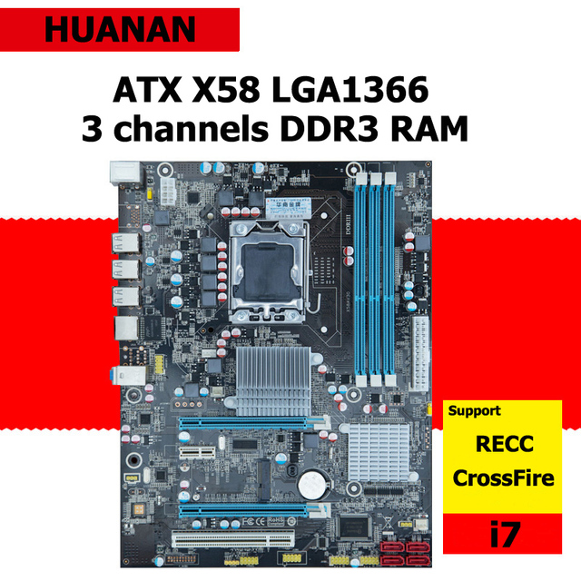 5fff22222e46 Huanan x58 lga1366 intel lga 1366 placa madre de escritorio mainboard atx 3  canales ram ddr3