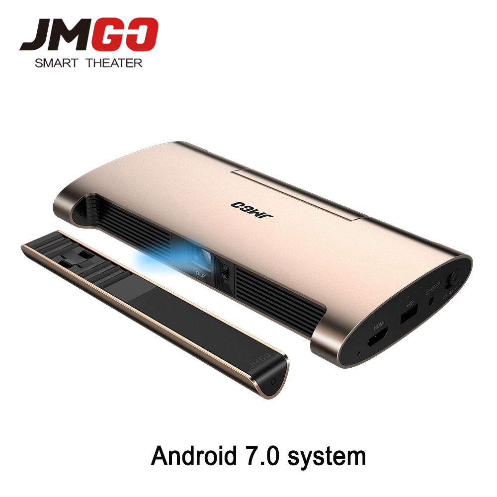 JMGO M6 Android 7 0 Portable Mini Projector Home Theater Support 1080P 4k Video Proyector With