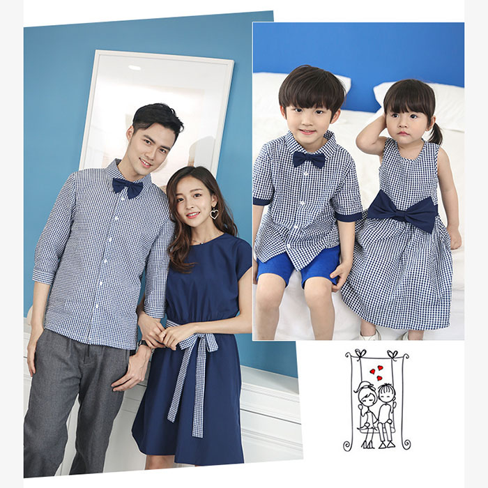HTB1BxumPZbpK1RjSZFyq6x qFXaU - Family Matching Outfits Summer Fashion Plaid Shirt Outfits Mother And Daughter Dresses Father Son Baby Boy Girl Clothes
