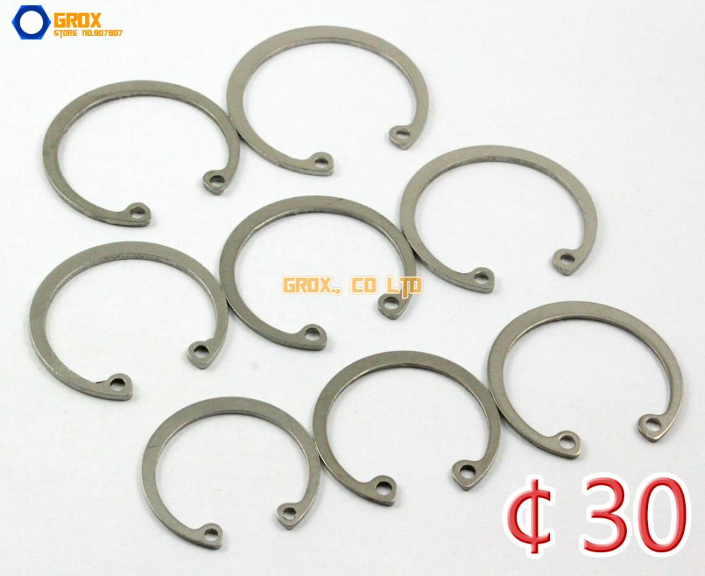 50 Pieces 32mm 304 Stainless Steel Internal Circlip Snap Retaining Ring