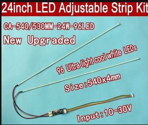 Free shipping 5pcs 24'' 540mm Adjustable brightness led backlight strip kit,Update 24inch-wide LCD CCFL panel to LED backlight