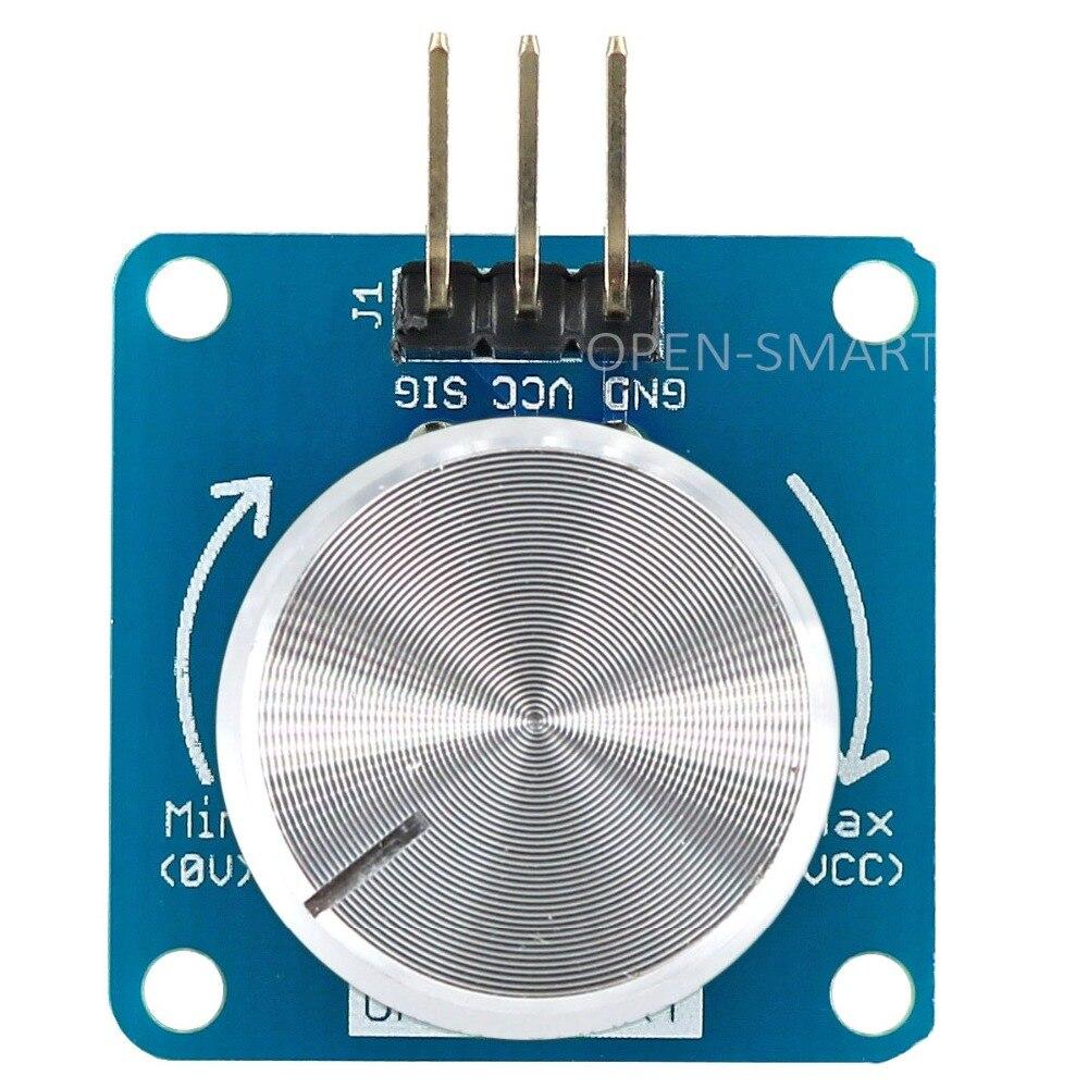 Высокочувствительный поворотный угловой датчик, Регулируемый регулятор громкости, потенциометр, ручка переключателя, белый модуль для ...