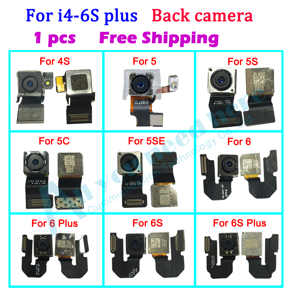1pcs high quality Back big Camera for iPhone 4S 5 5S SE 5C 6 6s 6 plus 6S plus Rear Camera Flex Cable Ribbon image