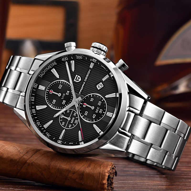 高級ブランドパガーニデザインクロノグラフビジネス腕時計男性防水 30 メートル日本ムーブメントクォーツ時計時計男性リロイ hombre