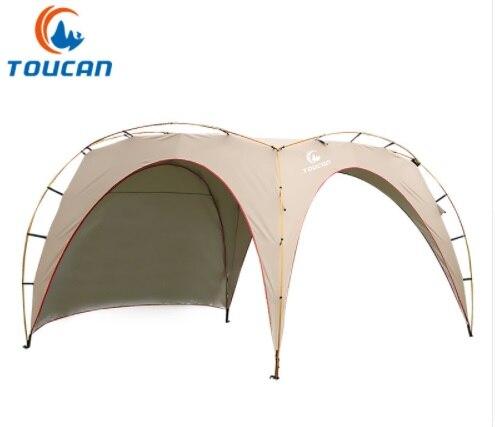 Poteau en aluminium ultraléger ultra-léger extérieur 4-5 personnes imperméable à l'eau plage abri solaire randonnée auvent Camping tente énorme Gazebo tente