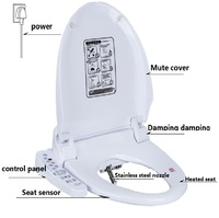WC Toilet Seat Cover Smart Bidet ass tapa wc sitz bidet toilet seat heated lid washlet toilets Bathroom Warm toiletbril clean
