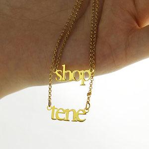 Image 4 - Ailin Groothandel 18K Plated Gold Sterling Zilver 925 Aangepaste Naam Ketting Dubbele Ketting Ketting Kerst Moeder Sieraden Geschenken