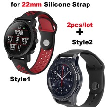 Купить с кэшбэком Silicone Bracelet Band 22mm Smart Watch Wrist Strap for Huami Amazfit Pace Stratos 2 for Huawei Watch GT Pro for Samsung Gear S3