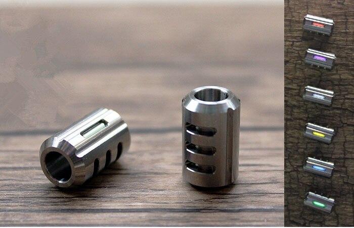 1PC EDC Titanium Alloy TC4 Knife Beads Paracord With Tritium Gas Tube Can Self-luminous Umbrella Rope Parachute Cord Gadget Tool