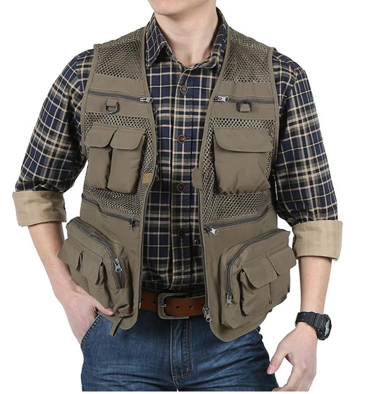 New fishing vest fishing pack outdoor multifunctional men for Mens fishing vest