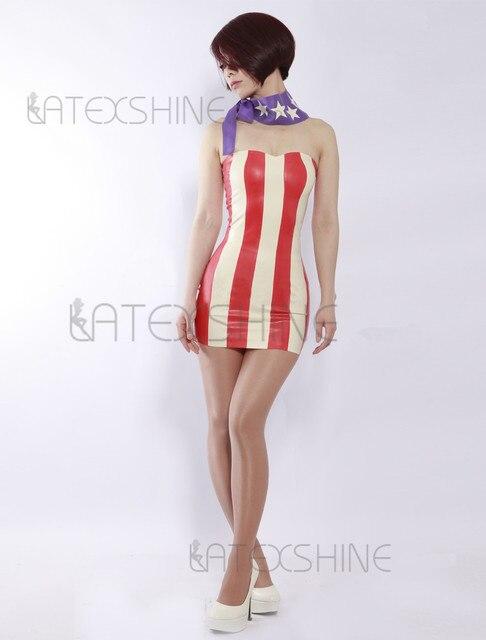 patroon strapless jurk