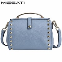 MIESATI Soft Rivet Women Shoulder Bag Famous Design Popular Brand Handbag Single Strap Solid Versatile Fashion
