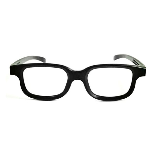 eea9087520 1Pair Polarized 3D Glasses Black Frame For Dimensional Anaglyph Movie Game  DVD LCD Video Game Theatre Circular