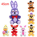 Big 18'' 45cm Five Nights At Freddy's 4 FNAF Bear Mangle foxy chica bonnie Plush Toys Doll Freddy Fazbear plush figure toys