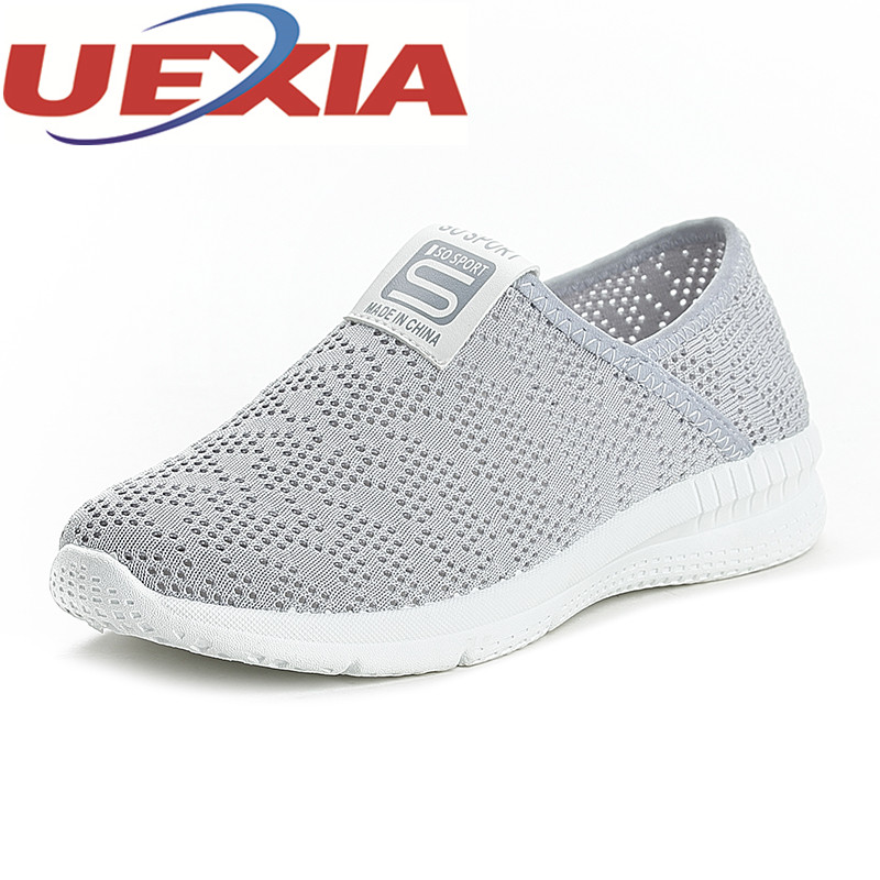 Women Slip On Shoes Summer Casual Breathable Mesh Sneakers Outdoor Flat Walking Shoes Female Colors Ladies Zapatillas Mujers 2018 women summer slip on breathable flat shoes leisure female footwear fashion ladies canvas shoes women casual shoes hld919