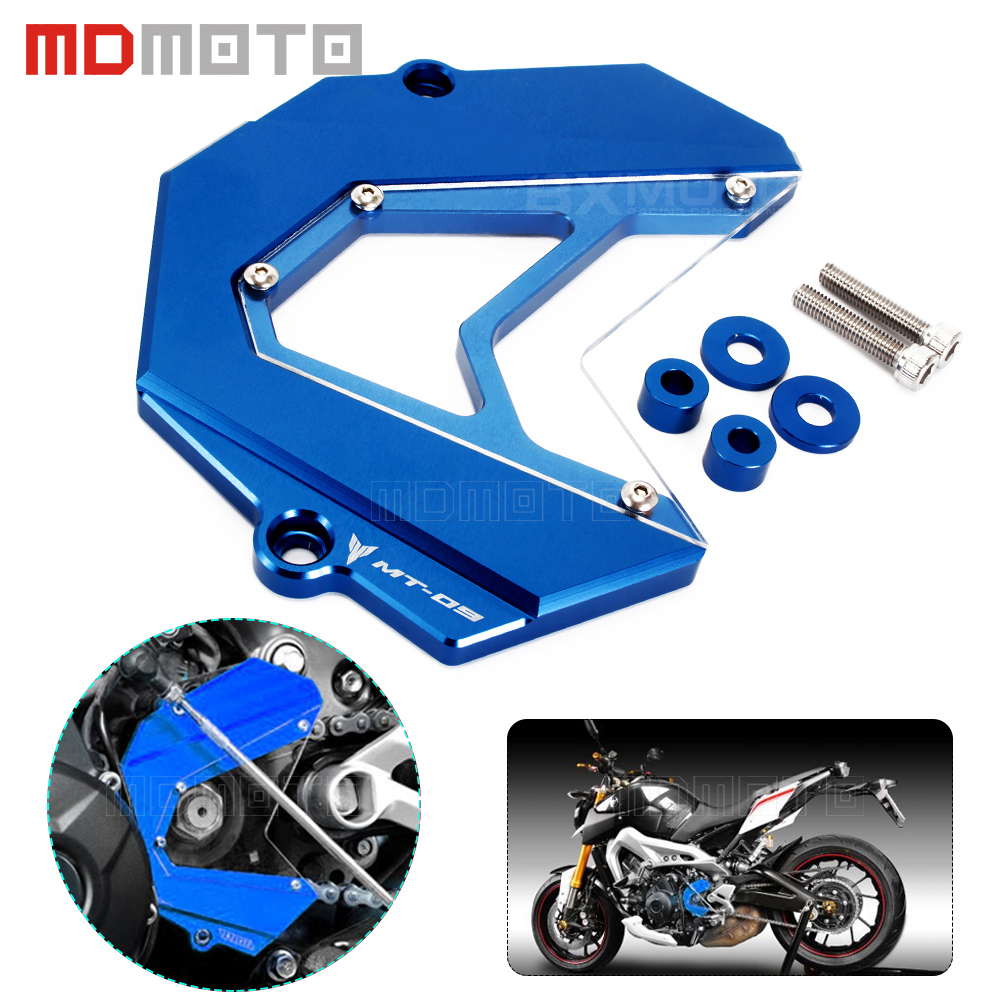 Motorcycle accessories CNC Protector chain Guard Cover Decoration Front Chain Sprocket cover for yamaha MT-09 FZ9 MT09 FZ09 mgoodoo cnc aluminum motorcycle left engine guard chain protector front sprocket cover panel for yamaha r3 r25 2014 2015 2016