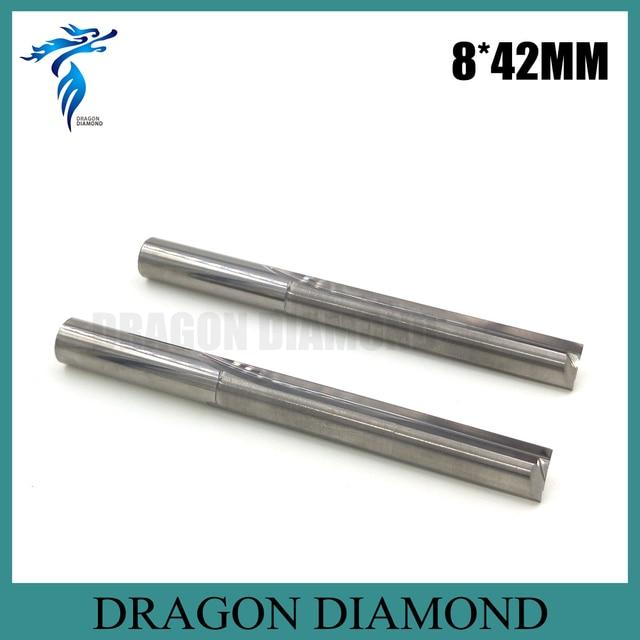CNC Fräser 8*42mm Doppel Gerade Flöten Hartmetall-schaftfräser Bits, Schneidwerkzeuge für Carving Gravur MDF Holz PVC