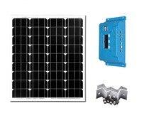 Солнечный комплект Портативный 70 Вт 12 В Панели солнечные Солнечный Зарядное устройство контроллер 12 В/24 В 10A солнечный свет светодиодный ла