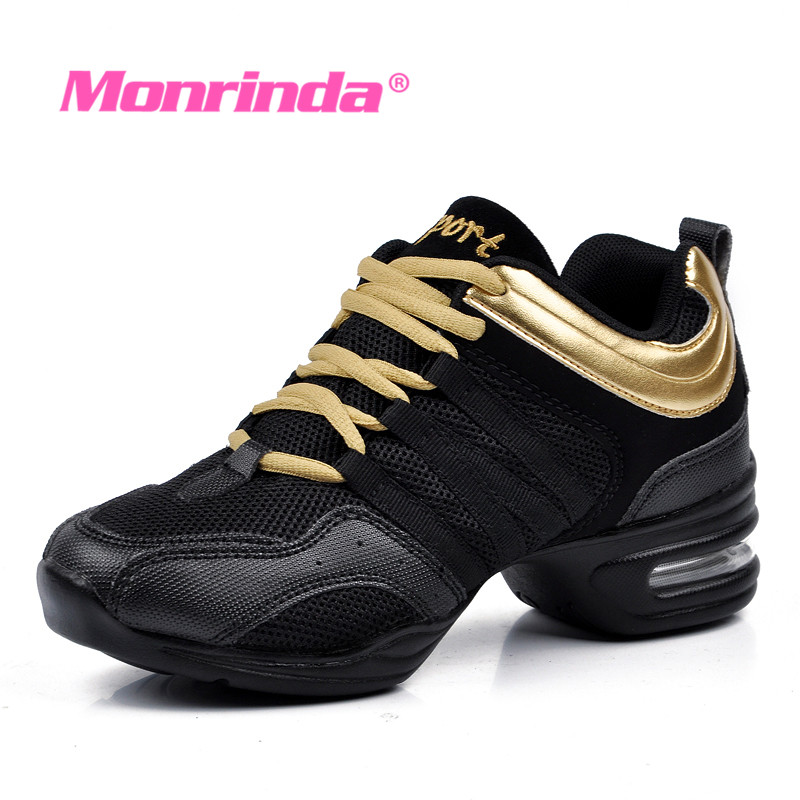 Womens Shoes 2018 New Style Soft Seat Jazz Dance Modern Dance Square Shoes Sports Fitness Air Cushion Sneakers Size35-41 Uhren & Schmuck