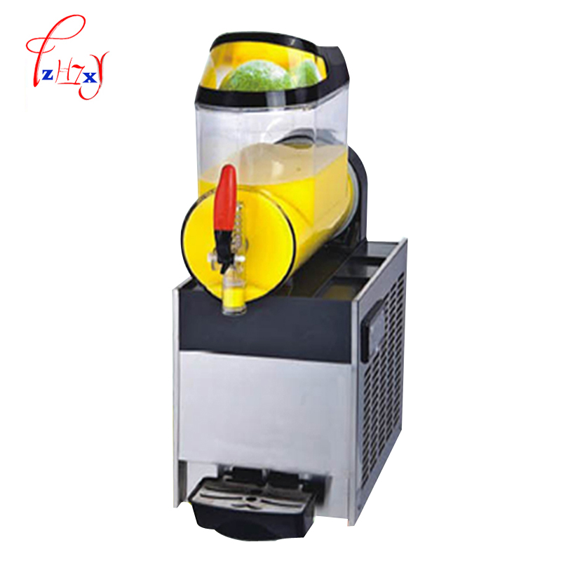 Ev Aletleri'ten Dondurma makinesi'de Tek silindirli Ticari Kar Eritme Makinesi XRJ10Lx1 Slush Buz Slusher Soğuk Içecek Dağıtıcı Smoothie Makinesi 110 V/220 v 1 adet title=