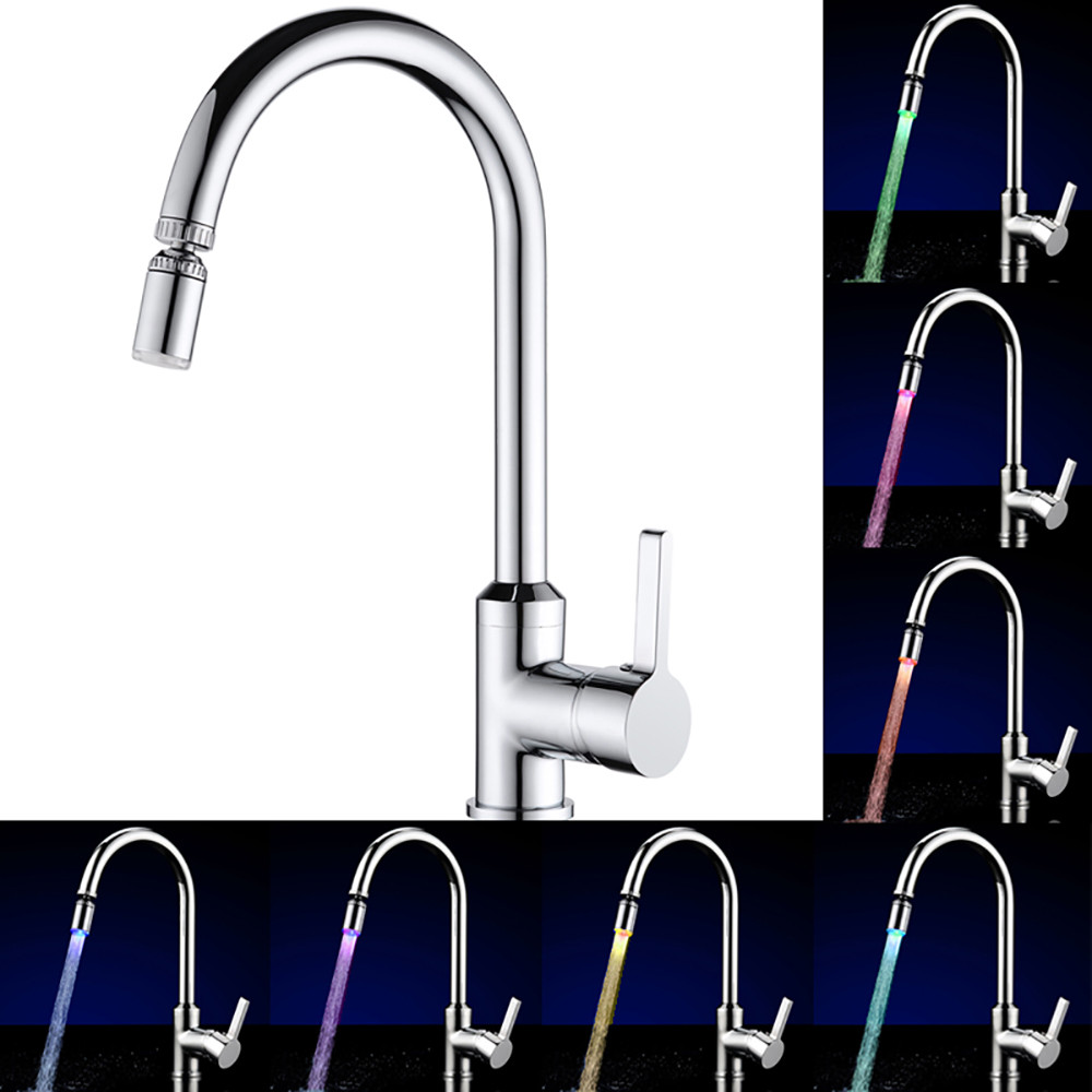 7 Colors Rgb Led Light Water Stream Faucet Tap Led Splash