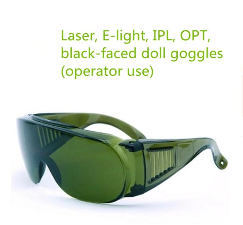 E a luz da beleza instrumento laser óculos de proteção blackdoll opt  depilação de sobrancelha sombreamento c95554de64