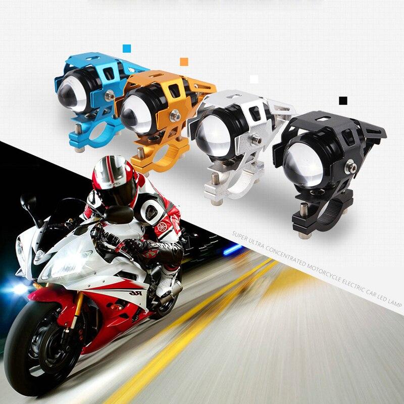 1 O 2 Pcs U5 5 W 4000lm Colore Nero 3 Modalità Moto Spot Led Luce Di Azionamento Del Faro Della Nebbia Di Guida Lampada