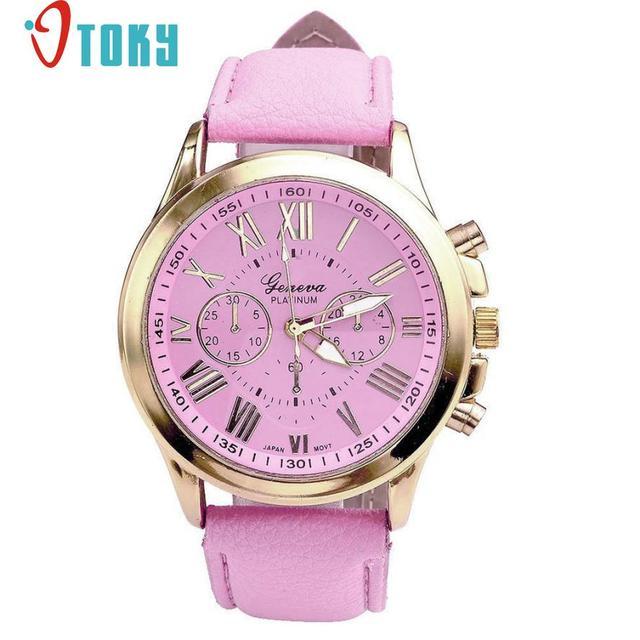 Hot Hothot Sales New Watch Women Roman Numerals Faux Leather Analog Quartz Wrist Watches Quartz Watch relogio feminino at1