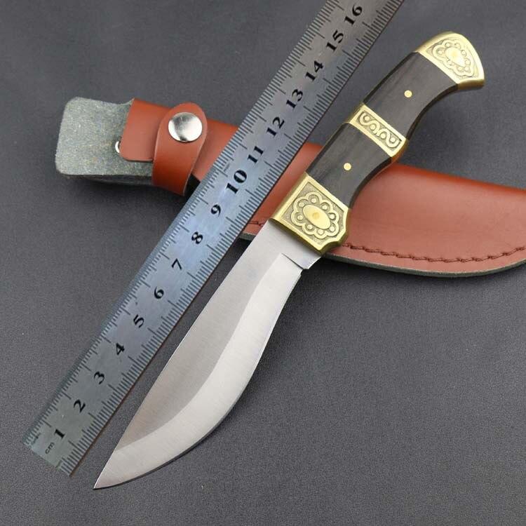 2016 New Outdoor font b Tactical b font font b Knife b font 5Cr13Mov Blade Wood