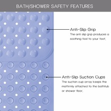 Non-Slip Bath Mats With Suction Cups
