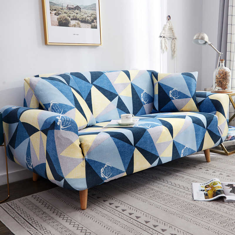 geometric/flower printed sofa covers stretch for living room couch cover elastic slipcovers cheap home decoration new style