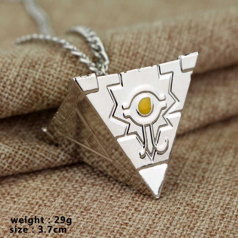 3D Yu-Gi-Oh Цепочки и ожерелья золотой, Серебряный покрытием аниме Yugioh Миллениум кулон игрушки, украшения Yu-Gi-Oh Косплэй костюм подарок