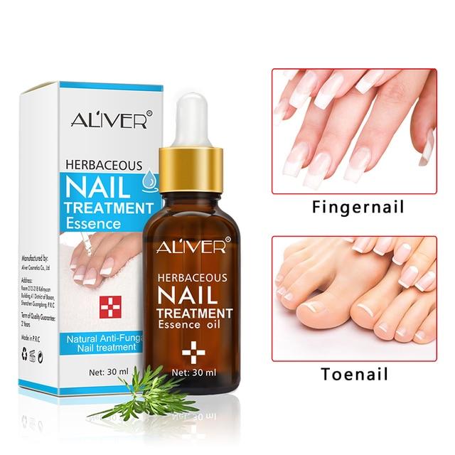 ALIVER Herbaceous Nail Treatment Essence Natural Anti Fungal Nail ...