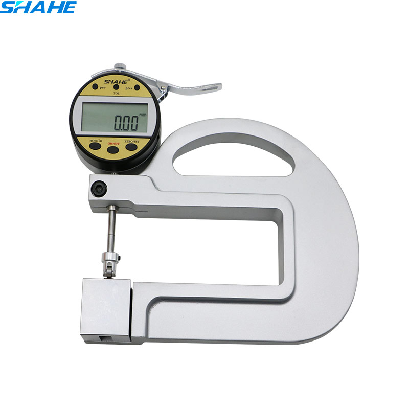 0.01mm Electronic Thickness Meter Gauging Tools tester leather thickness meter with Roller Insert paper leather thickness gauge 0.01mm Electronic Thickness Meter Gauging Tools tester leather thickness meter with Roller Insert paper leather thickness gauge