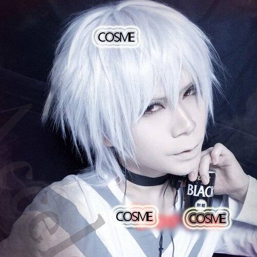Vampire Knight Kiryu Zero Short Shaggy Layered Silvery White Cosplay