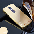 Plating Metal Aluminum Bumper + Brushed PC Acrylic 2in1 Anti-knock Case For Motorola Moto X Force / Droid Turbo 2 Cover Capa