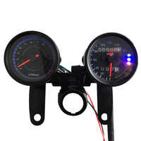 B733-Z 12V Motorcycle 13000 RPM Tachometer Km/h Speedometer Dual Odometer Gauge with LED Backlight Signal Lights for Motorcycle