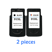 2pcs For canon PG512 CL513 ink cartridge PG 512 CL 513 MP240 MP250 MP270 MP230 MP480 MX350 IP2700 printers ink cartridges PG 512