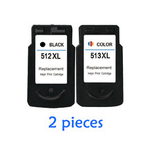 2pcs For Canon PG512 CL513 Ink Cartridge PG 512 CL 513 MP240 MP250 MP270 MP230 MP480 MX350 IP2700 Printers Cartridges