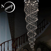 Retro loft chandelier Europe crystal lamp with GU10 9 lights modern art deco for bedroom parlor hotel restaurant lobby office