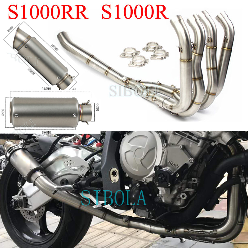 US $218 91 32% OFF|Motorcycle Exhaust Full System SC GP Project Muffler For  BMW S1000R 2015 16 17 2018 S1000RR 2010 11 12 13 14 15 16 17 2018 Years-in